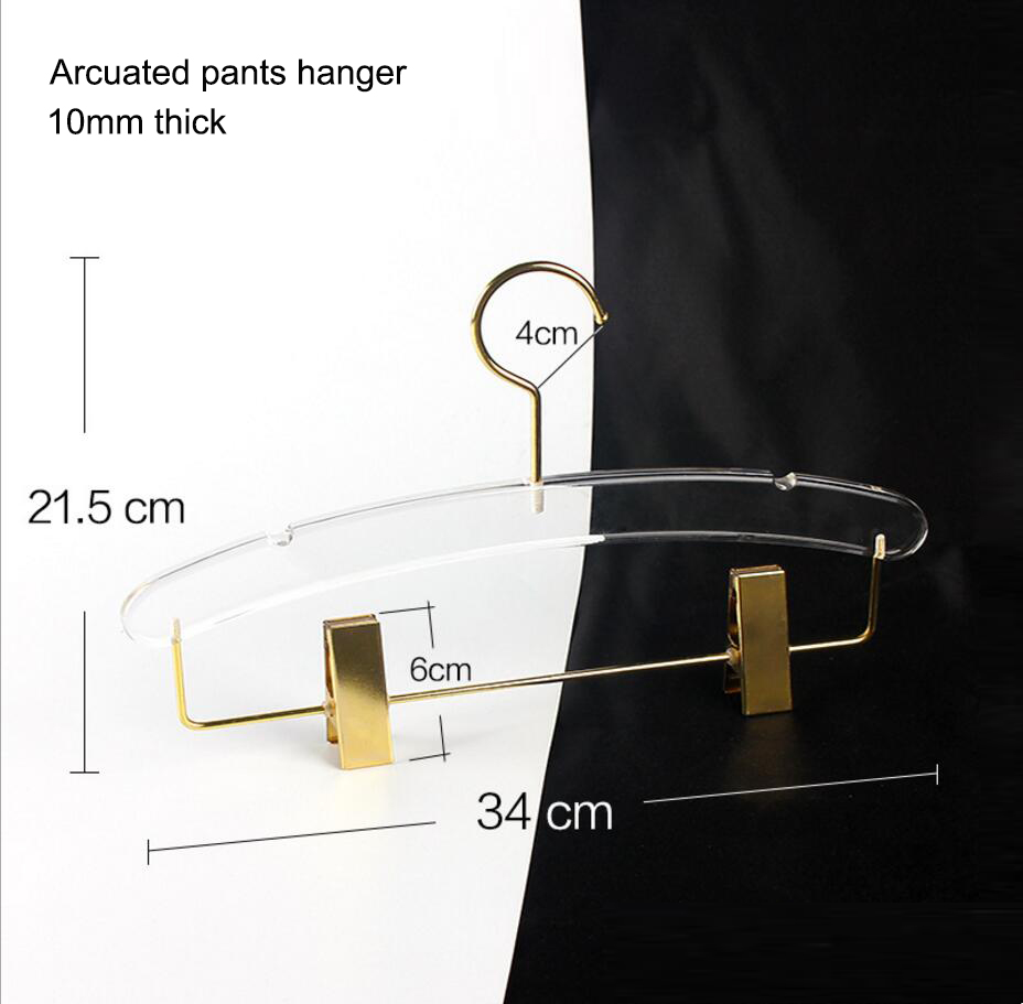 Lucite Clamp Pant Hangers