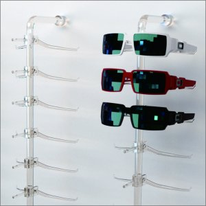Acrylic slat-wall eyewear display