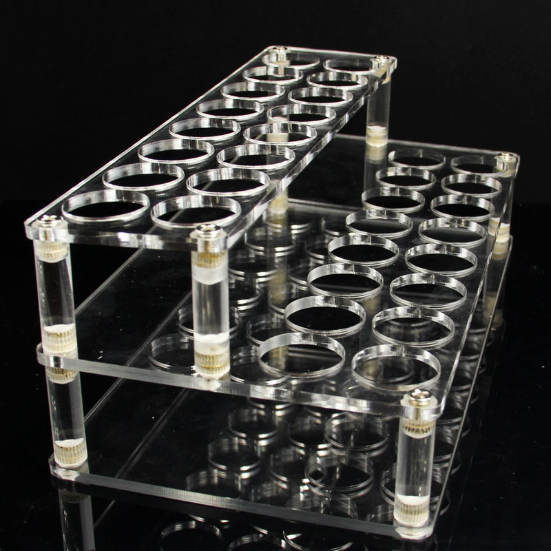 B011 Acrylic Vape Display Counter Top 32pcs MOD Tiered Station