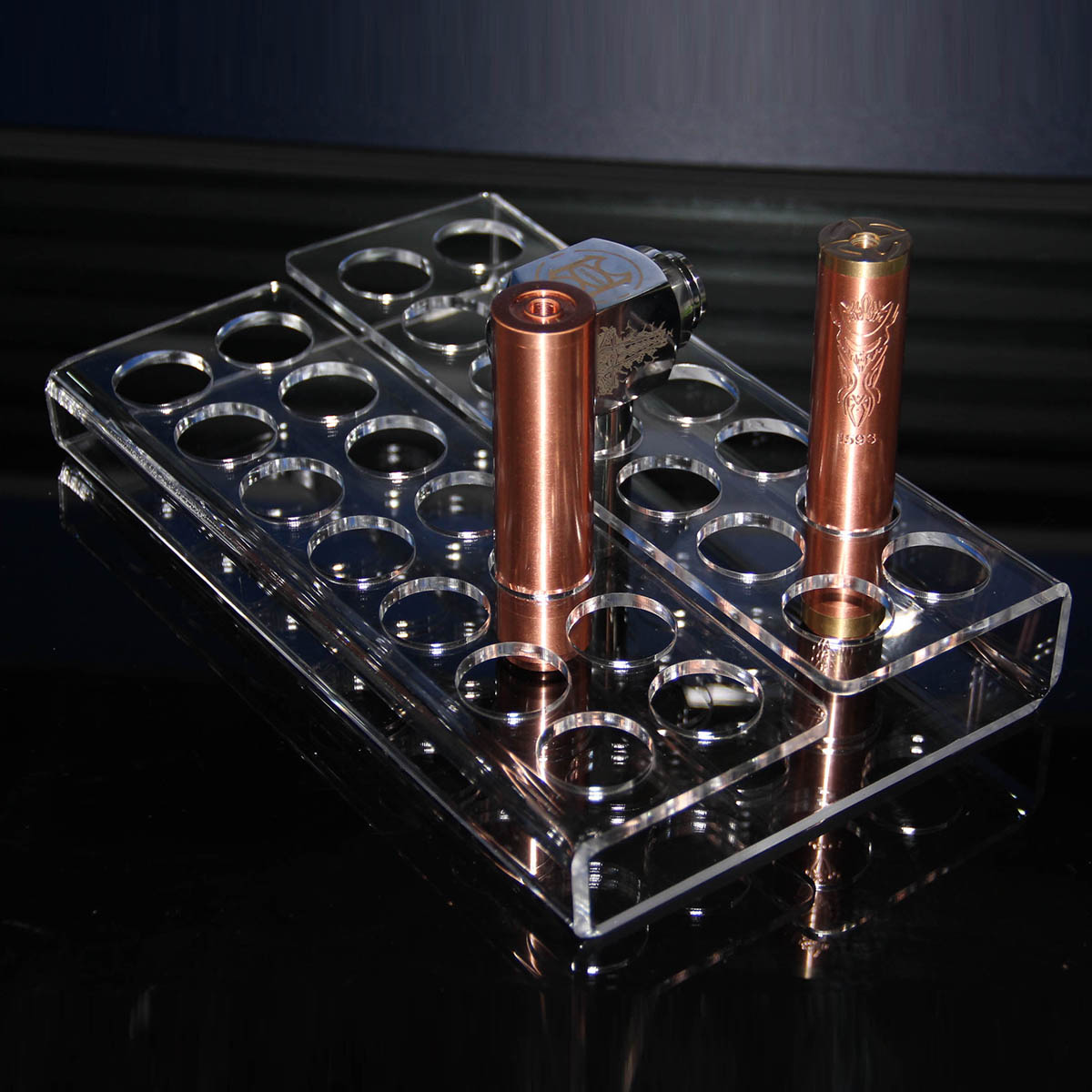 B014 Acrylic Vape Display Tray with 28 Holes For Mod