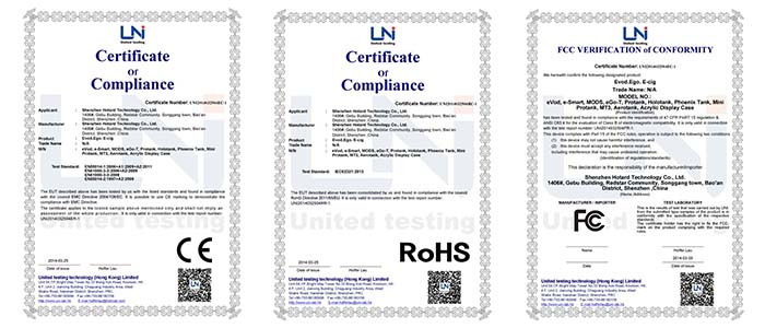 acrylic displays certificates