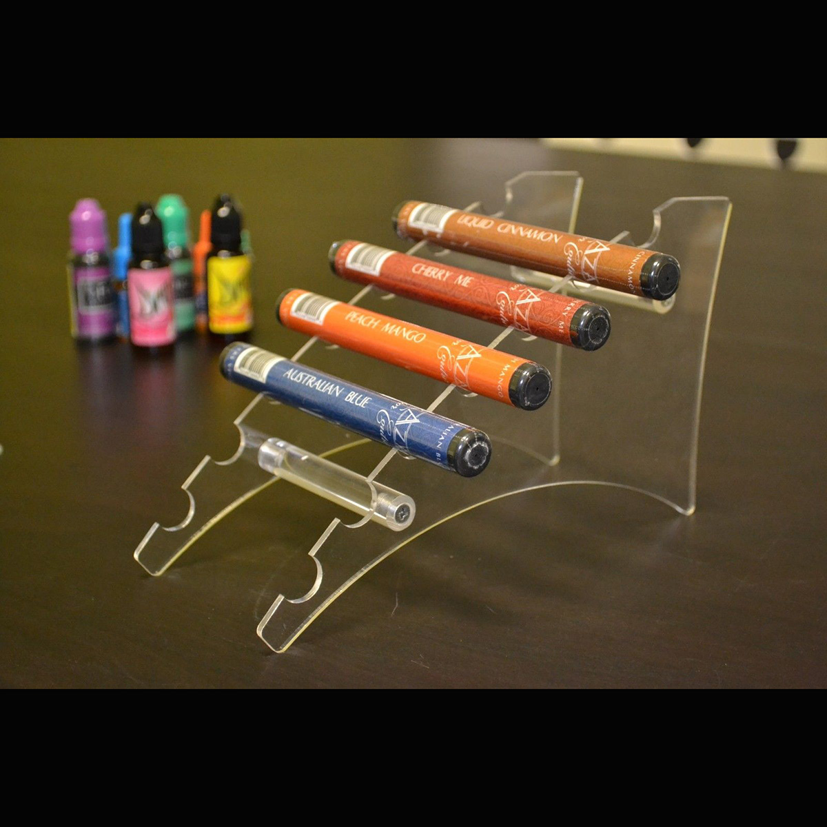 K010 Acrylic Vape Kit Display Easels 7pcs E-cig Stand