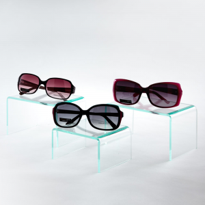 acrylic sunglass U-shaped riser