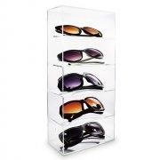 acrylic shelves sunglass display case