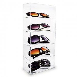 sunglass display case acrylic shelves