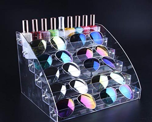 acrylic stairs sunglass display stands