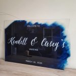 acrylic wedding signs