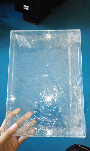 packing acrylic display with protective film