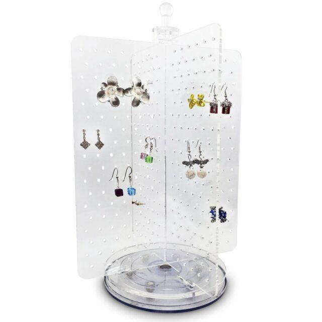 rotating acrylic jewelry display