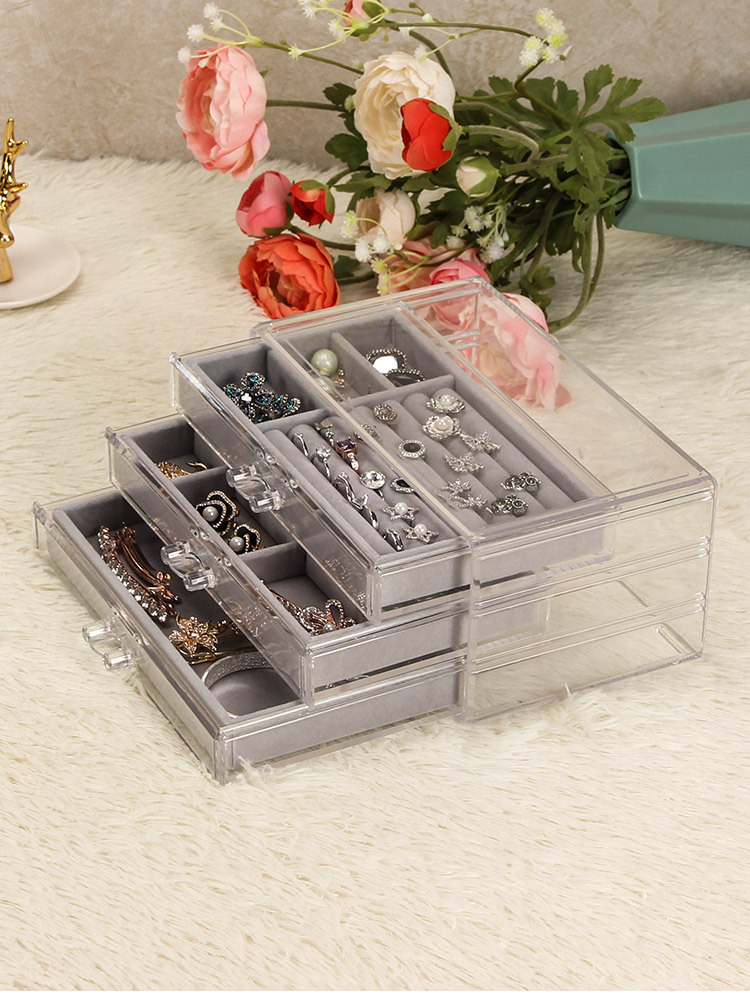 3-Trays Acrylic Jewelry Display Drawers 6403 1