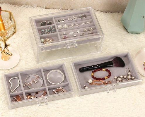3-Trays Acrylic Jewelry Display Drawers