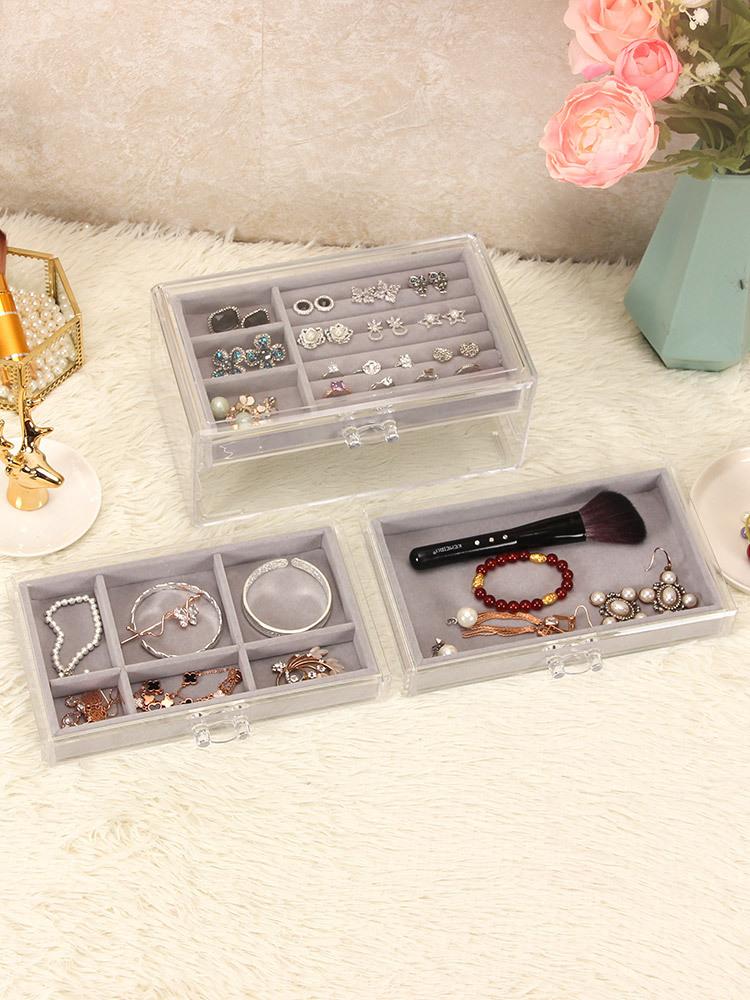 3-Trays Acrylic Jewelry Display Drawers 6403 2