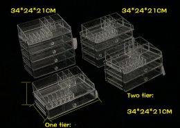 acrylic jewelry storage case cosmetic showcase