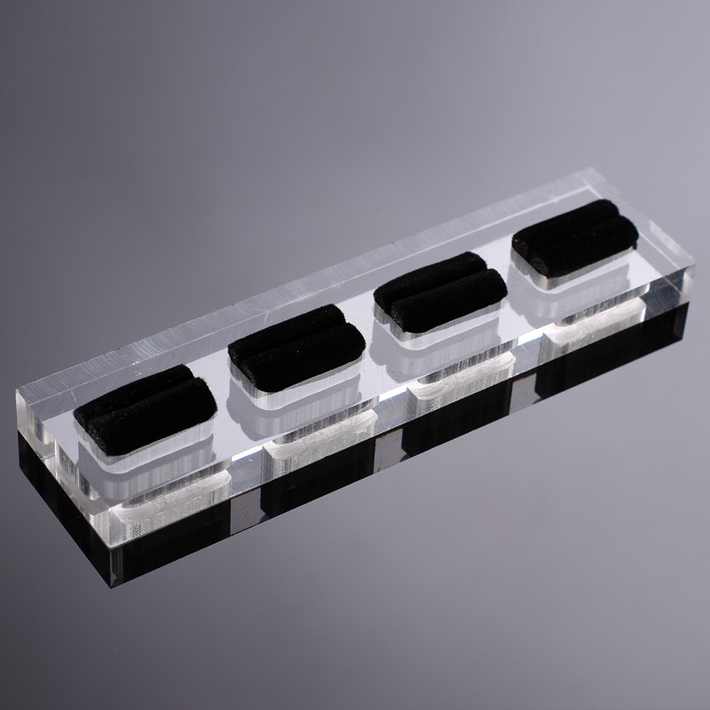 Acrylic Velvet Jewelry Ring Tray ACT01 1