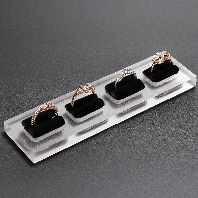 Acrylic Velvet Jewelry Ring Tray ACT01 2