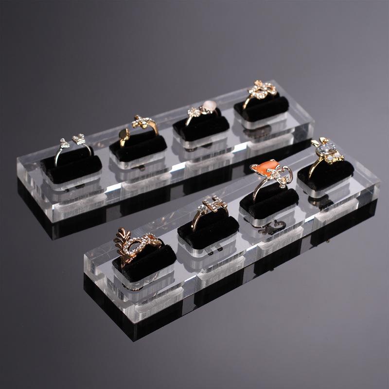Acrylic Velvet Jewelry Ring Tray ACT01