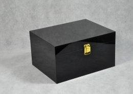 Black Locking Acrylic Jewelry Box