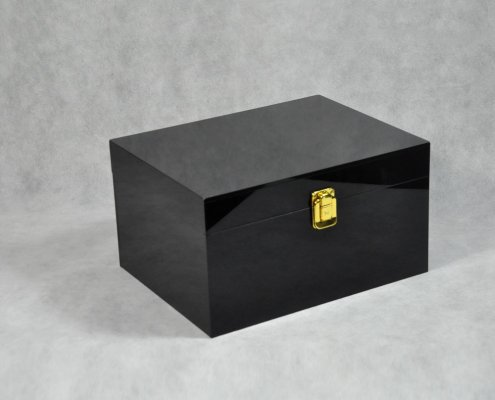 Black Locking Acrylic Jewelry Box