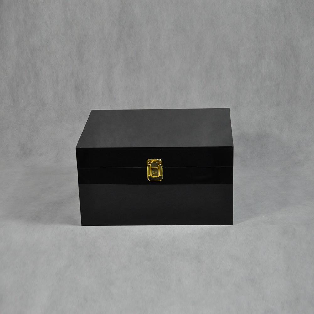 Black Locking Acrylic Jewelry Box CY 1857 3