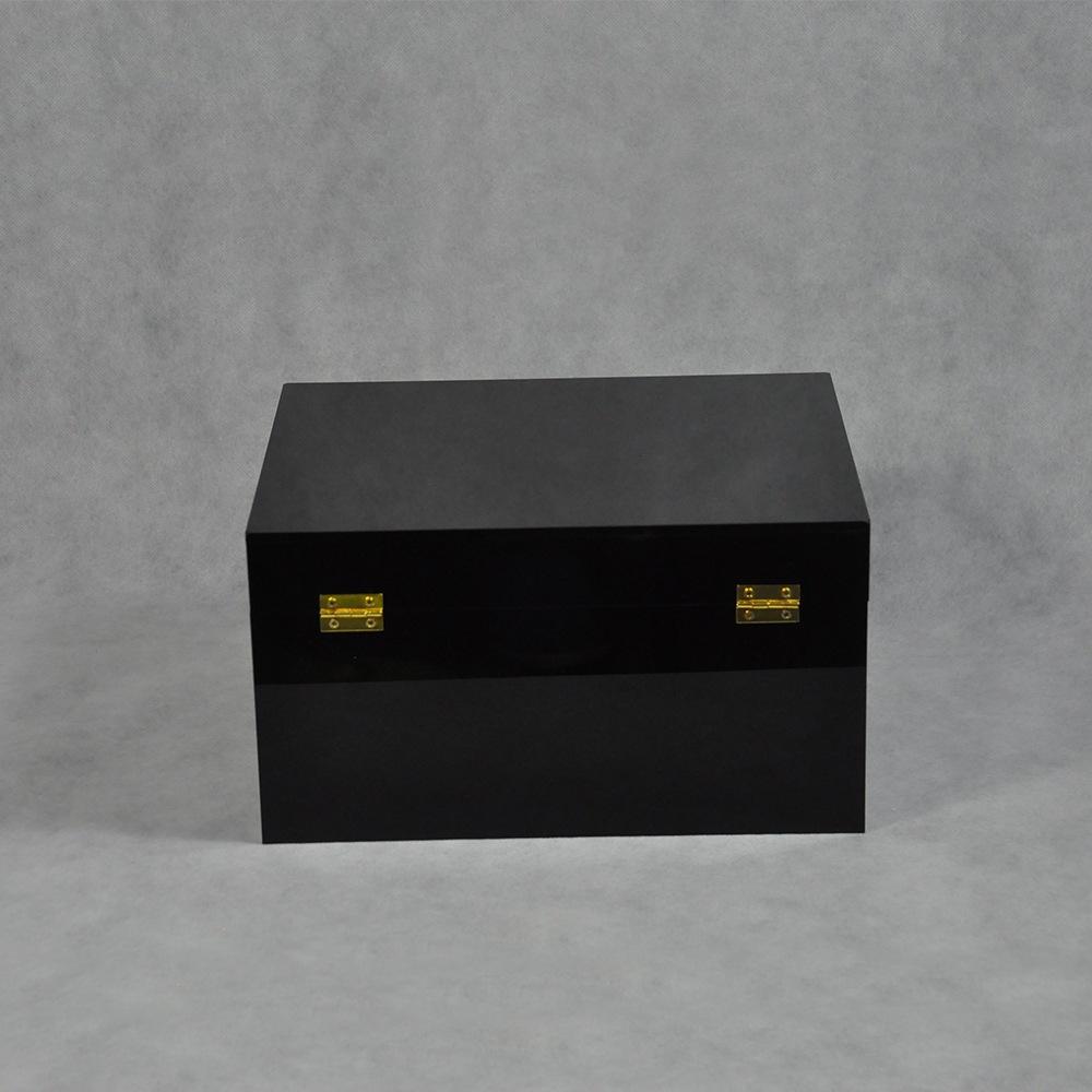 Black Locking Acrylic Jewelry Box CY 1857 4
