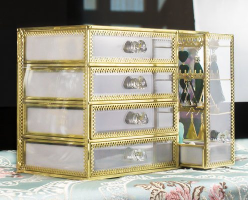 home decor jewellery window display storage drawer
