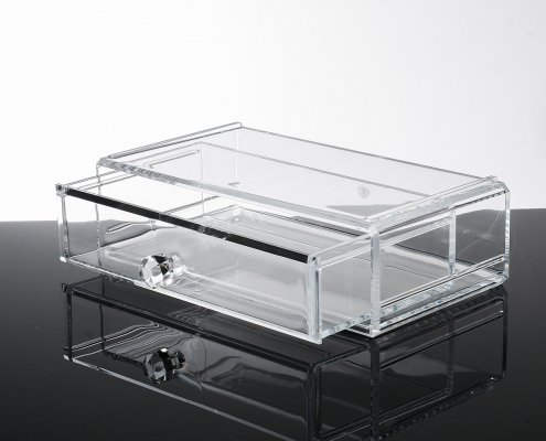 1-level acrylic jewelry display drawer