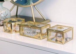 Glass Jewelry Display Box with Lid Jewellery Window Display