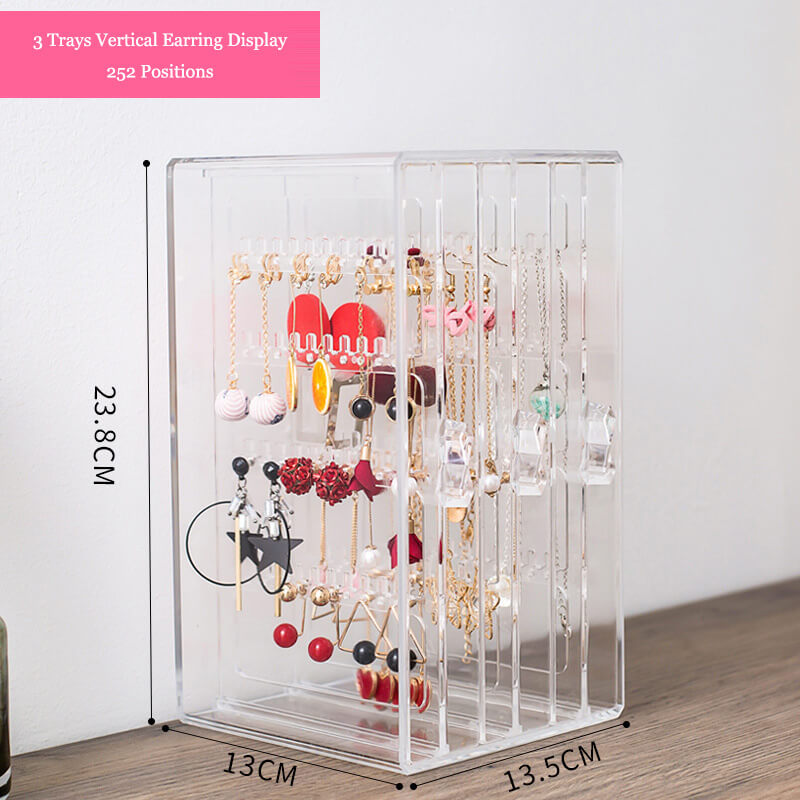earring and necklace stand vertical