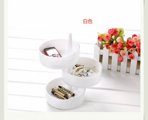 3-Layer Tray Rotating Jewelry Plate