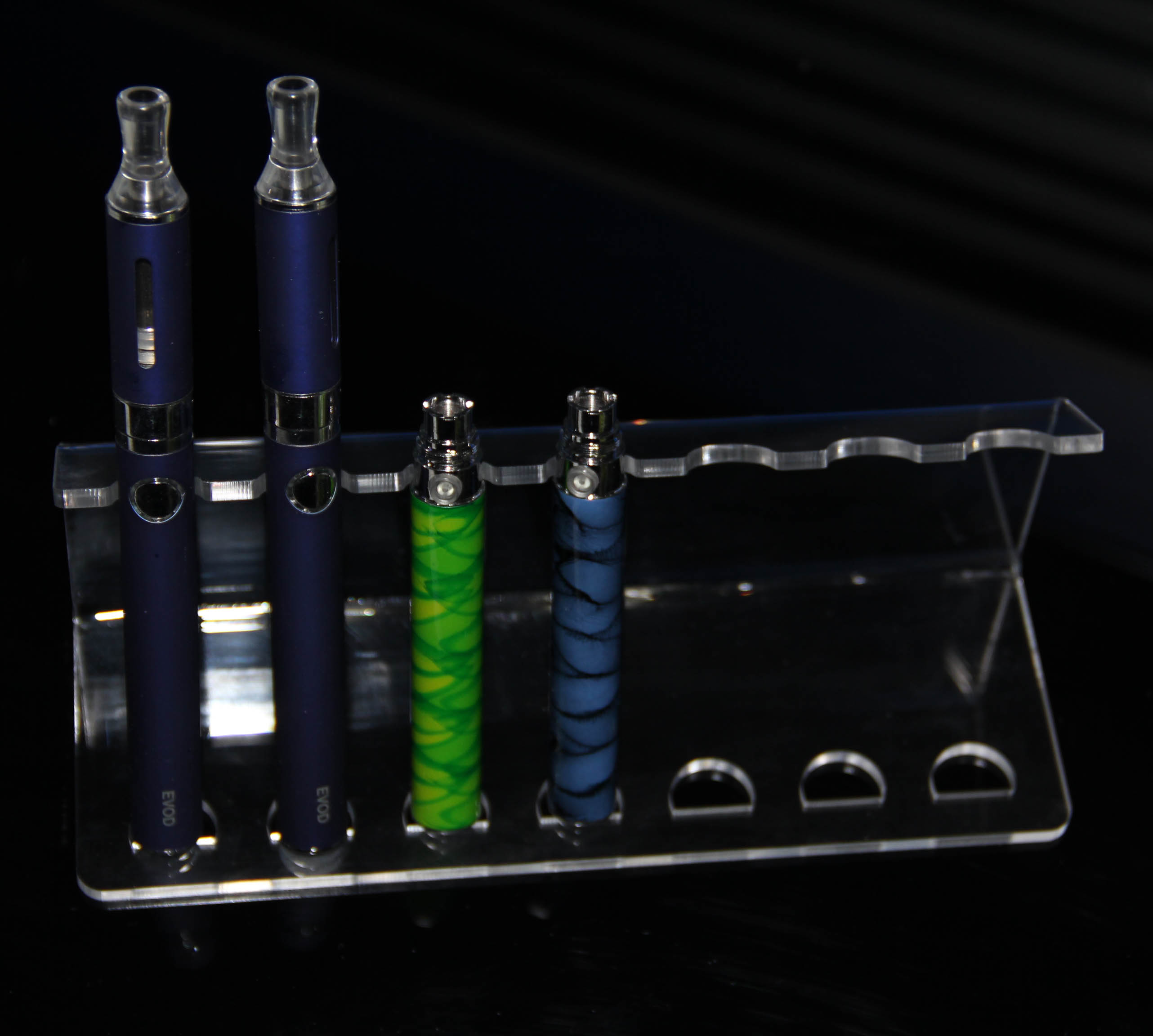 liquid vapour display e cig kit stand
