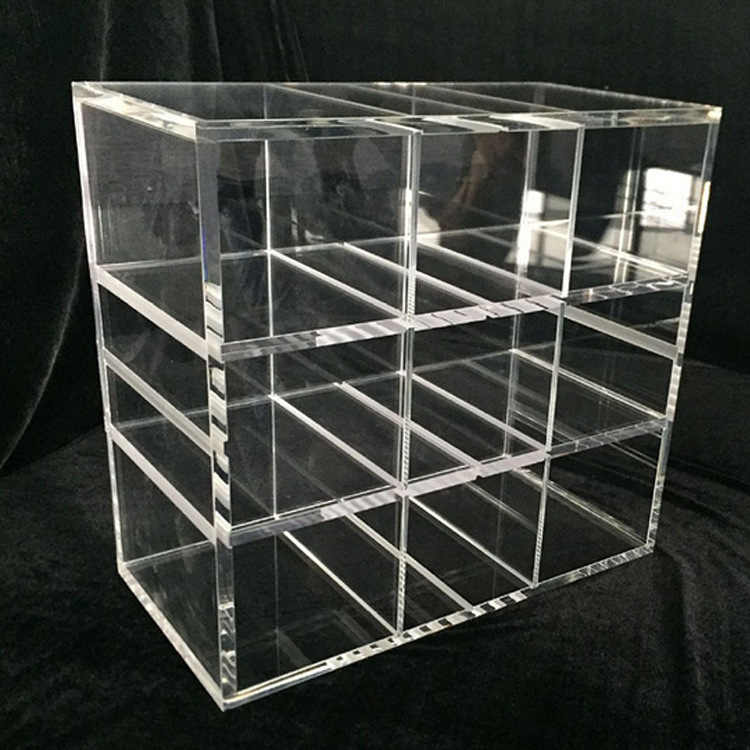 clear acrylic tray with divider