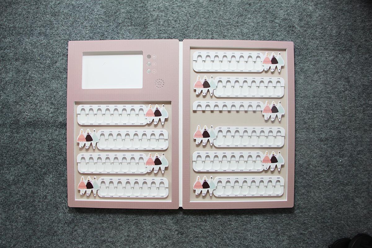 acrylic nail colour chart nail tip display