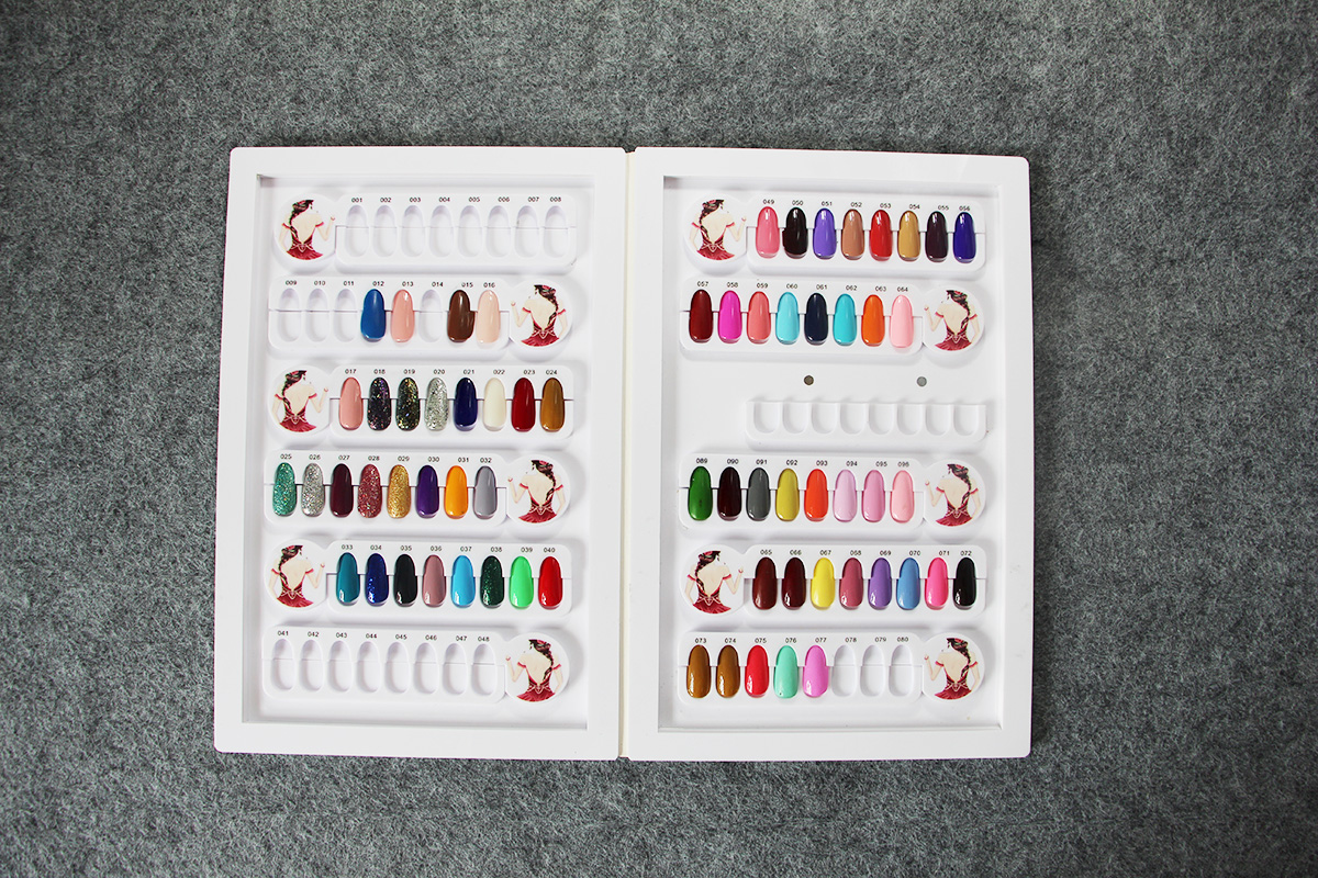 nail polish chart nail colour display book