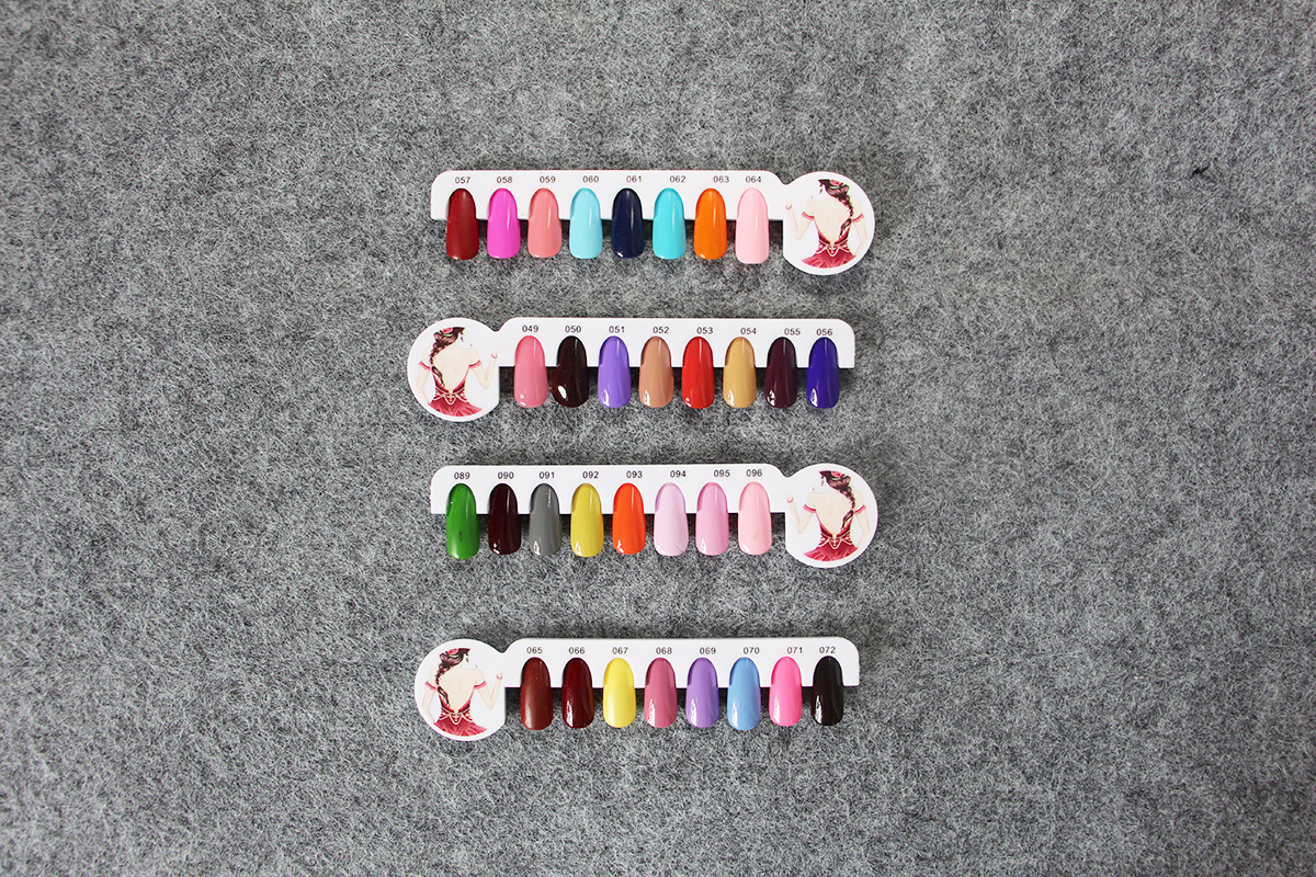 nail polish chart gel polish color chart