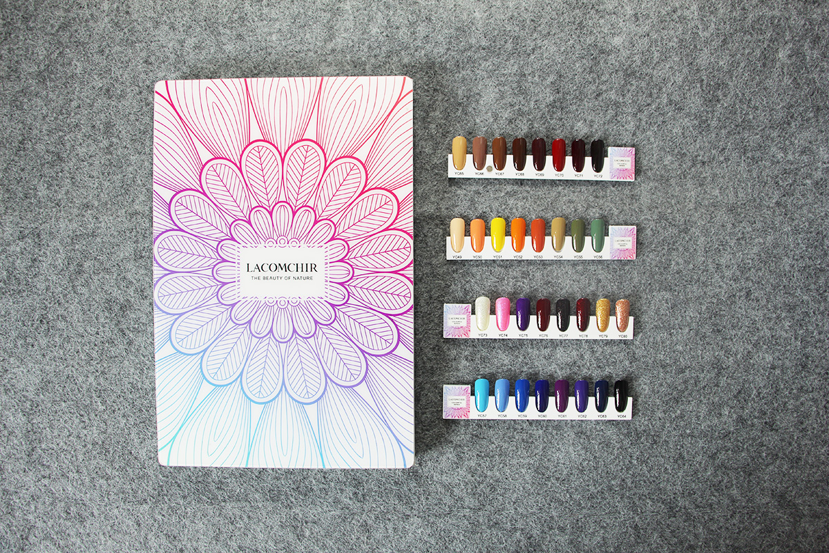 nail colour display book gel color chart