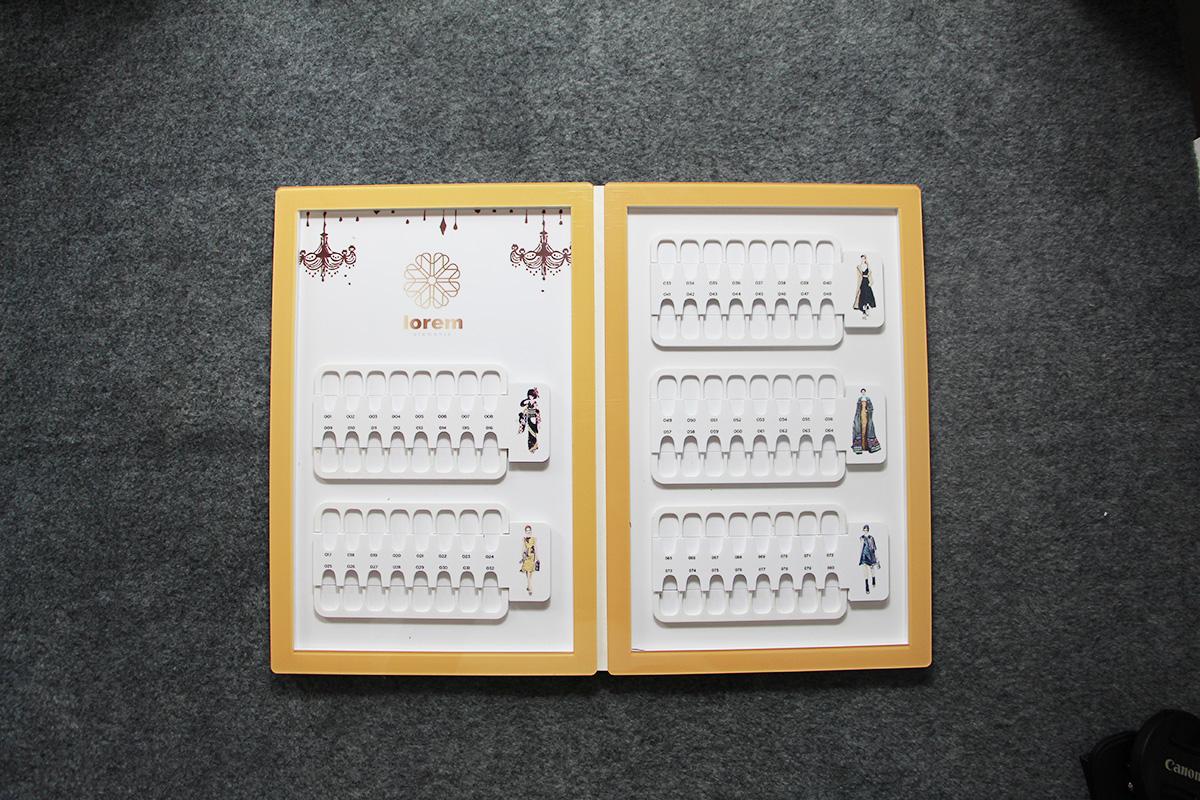 gel nail color chart nail art display