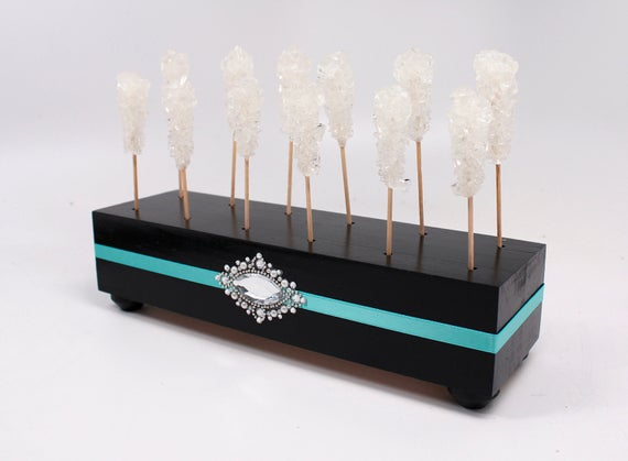 Acrylic Cake POP Display Holder Box Black