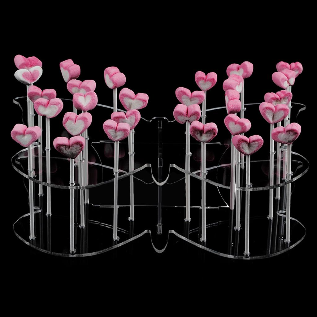 Butterfly Style Clear Cake POP Holder