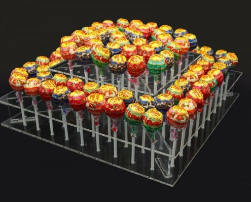 Clear Acrylic Cake POP Display 2 Tiers