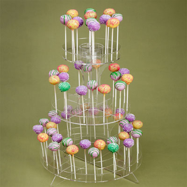 Customized Clear Acrylic Plastic Lollipop Cake POP Display