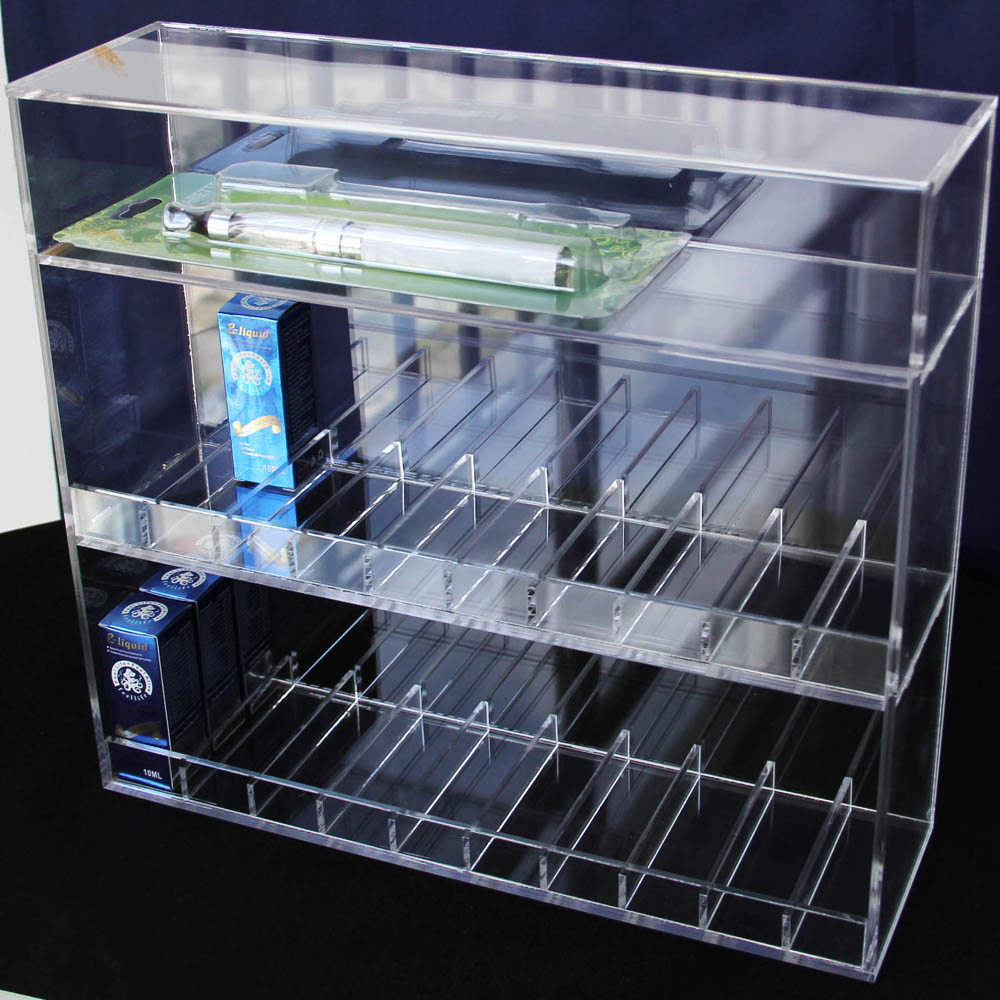 e cig juice holder vapor display case