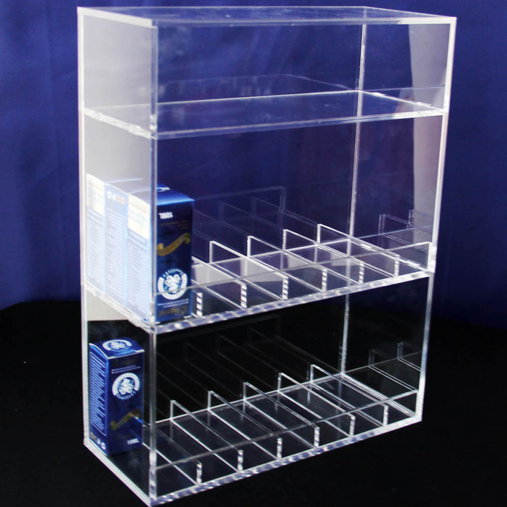 vapor display case e cig liquid holder