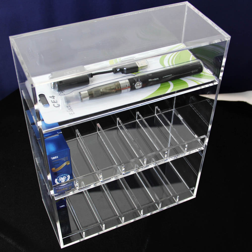 vapor display case e cig juice holder
