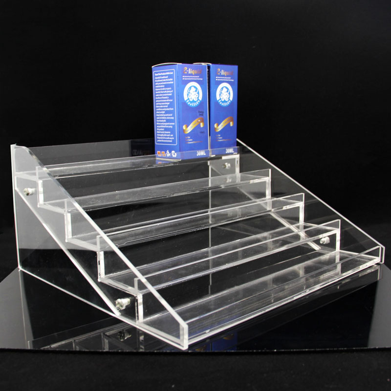 E Juice Display Rack acrylic tiered display stands