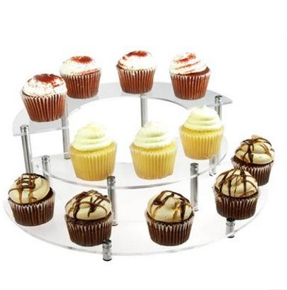Assembled Wedding Cupcake Display