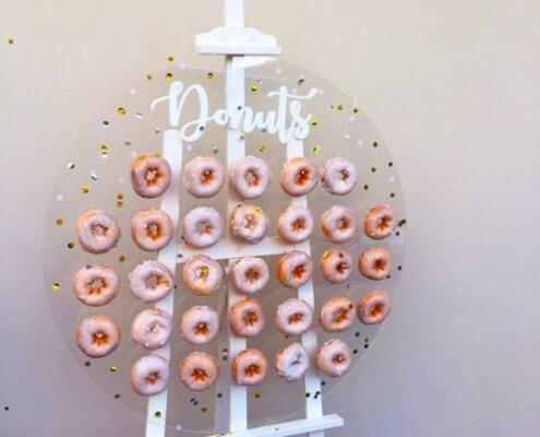 acrylic doughnut cake stand