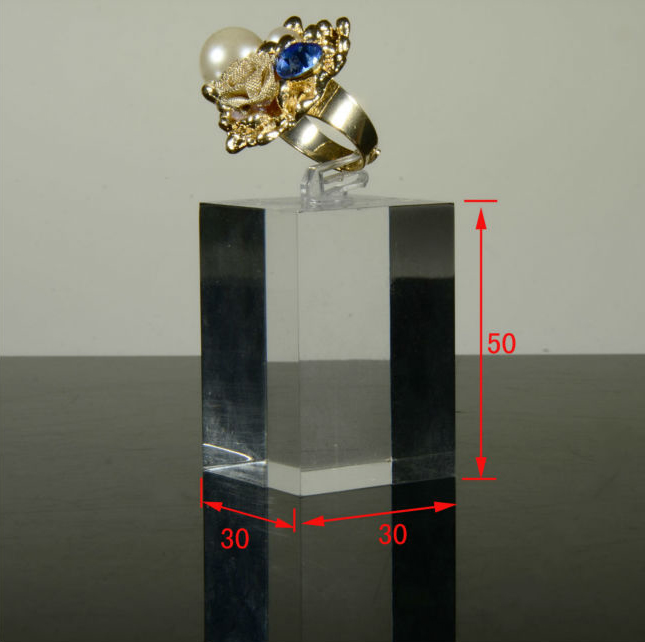 acrylic ring display cube jewellery window display