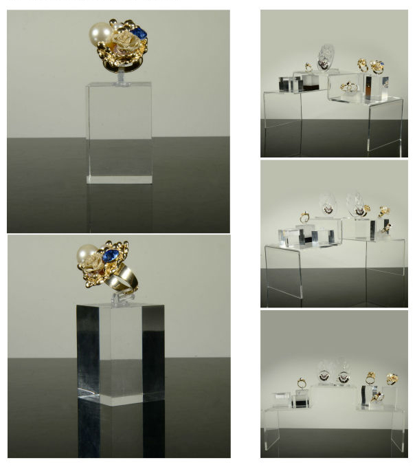 acrylic ring display cube earring stands and displays