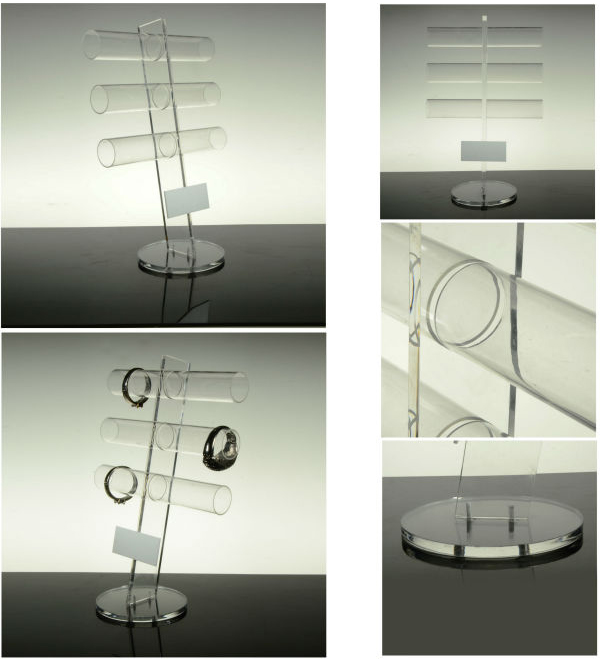 Acrylic Bracelet Display Chain Stand 3 tier bracelet display stand