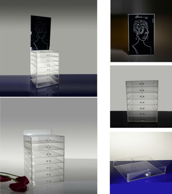Acrylic jewelry storage display plexiglass jewelry display